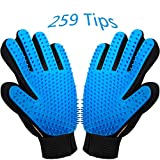 [2020 New Version] Pet Grooming Glove Deshedding Brush - Glove Style Dog Brush Cat Brush - Gentle and Efficient Dog and Cat Hair Remover - Glove Brush for Shedding Short & Long Hair