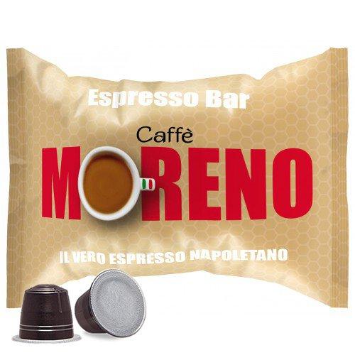 CAFFE' MORENO 200 CIALDE CAPSULE MISCELA ESPRESSO BAR COMPATIBILITA' NESPRESSO