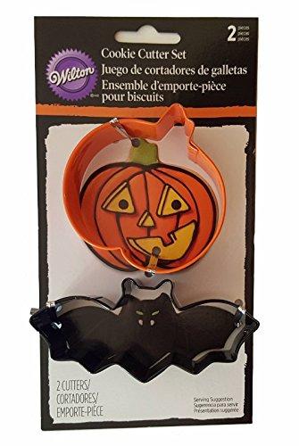 Wilton Halloween Pumpkin Bat 2 Piece Cookie Cutter Set