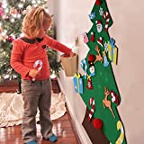 Aytai DIY Felt Christmas Tree Set with Ornaments for Kids, Xmas Gifts, New Year Door Wall Hanging Decorations