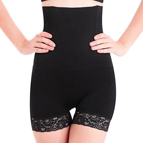 SURE YOU LIKE Damen Figurenformend Miederpants Miederhose Shapewear Bauch-Weg-Effekt Formt Sofort Body Shaper,Schwarz,Tag XL/XXL=size EU(42-46)