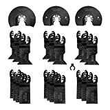WORKPRO 23-Piece Metal/Wood Oscillating Saw Blades Set for Quick Release Multitool, Blades for Dewalt, Craftsman, Ridgid, Milwaukee, Rockwell, Ryobi and More