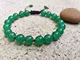 Bracelets,Green jade stone bracelets,It is fashionable for both men and women,Use as a gift.