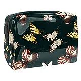 Bolsa de maquillaje portátil con cremallera bolsa de aseo de viaje para las mujeres práctico almacenamiento cosmético bolsa mariposa Frolic
