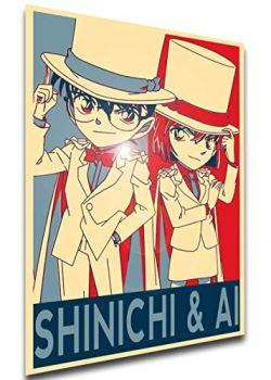 Instabuy Poster Propaganda - Detective Conan - Shinichi & AI - SA0507 A3 42x30cm