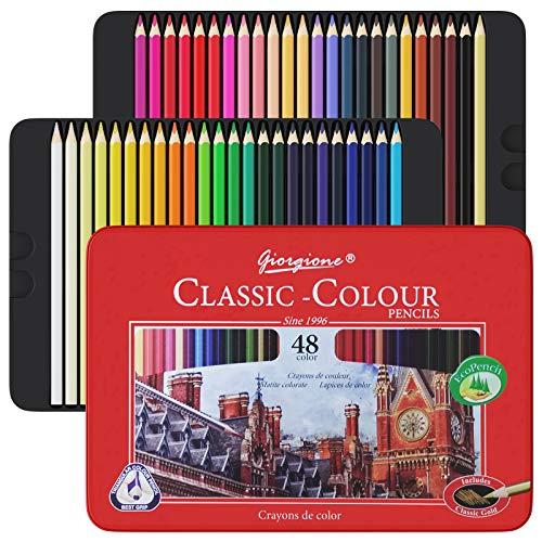 Honmax Matite Colorate Professionali da disegno, set di 48 Matite Colorate, Colori a Pastello, Pastelli Professionali da Disegno, per Principianti, Adulti e Bambini, Ottimo per la Pittura Creativa