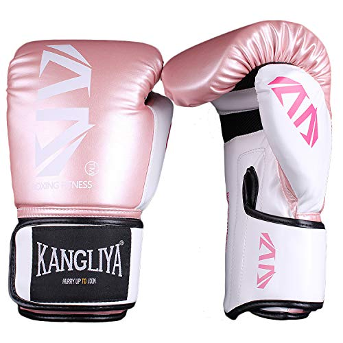 FitTrek Guantoni da Boxe - Boxing Gloves 6oz 8oz 10oz 12oz - Guanti da Box per Sparring, Muay Thai,...
