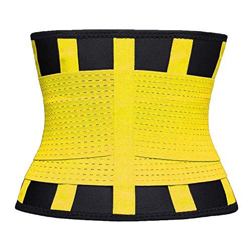 VENUZOR Waist Trainer Belt for Women - Waist Cincher Trimmer - Slimming Body Shaper Belt - Sport Girdle Belt (UP Graded)(Yellow,X-Large 4