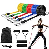 Resistance Bands Set for Women Men - Portable Home Workouts Accessories, Exercise Bands with Door Anchor, Handles, Legs Ankle Straps for Resistance Training, Physical Therapy, Yoga, Pilates