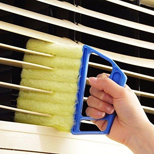 Blue Handheld Mini Blinds Cleaner Shutters, Curtain Brush...