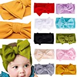 Baby Girl Nylon Headbands Newborn Infant Toddler Hairbands and Bows Child Hair Accessories (ZM116-10pcs)