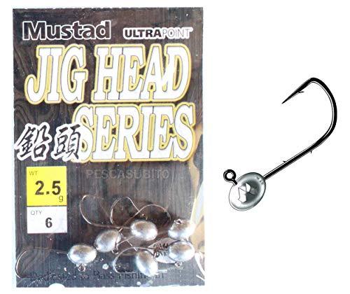 Jig Head 2,5Gr Pesca Spinning Trout Area Rock Fishing - Mustad Testine Piombate