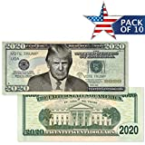 innoGadgets Twenty-Twenty Dollars | Donald Trump 2020 Dollar Bill [Pack of 10] – Re-Election Gift, Amazing Print Quality on Cotton Paper| Show Your Support to Keep America Great