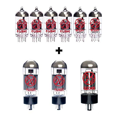 Replacement Valve Kit for Fender 68 Custom Vibrolux Reverb (4 x ECC83 1 x ECC81 1 x Balanced ECC81 1 x GZ34 2 x Matched 6L6GC)