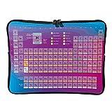 Estándar Neón periódico tabla de elementos portátil Bolsas actualizadas multifuncionales – Science Laptop estuches adecuados para exteriores, blanco (Blanco) - Lind88-DNB-8
