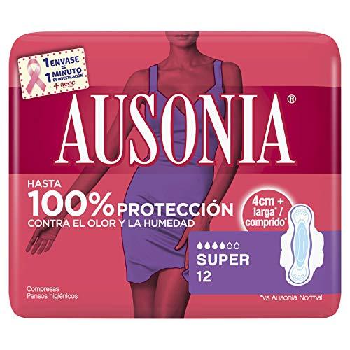 AUSONIA Super Compresas con Alas Absorbentes, Neutralizan El