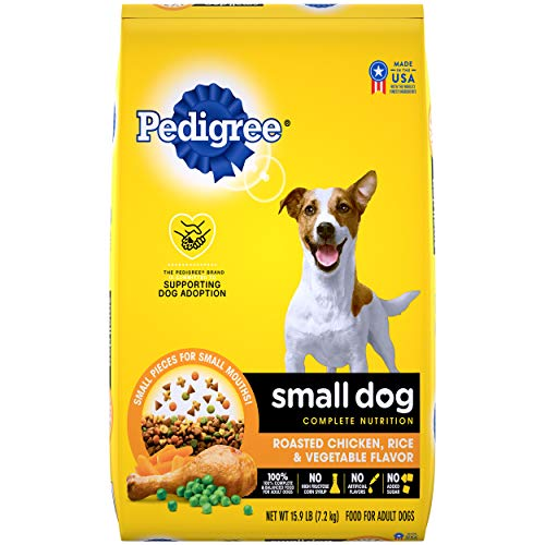 PEDIGREE Small Dog Adult Complete Nutrition Roasted Chicken, Rice & Vegetable Flavor Dry Dog Food 15.9 Pounds