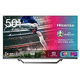 Hisense 50U71QF Smart TV ULED Ultra HD 4K 50', Quantum Dot, Dolby Vision HDR, HDR10+, Dolby Atmos, Full Array Local Dimming, con Alexa integrata, Tuner DVB-T2/S2 HEVC Main10 [Esclusiva Amazon - 2020]