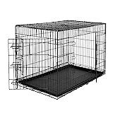 dibea Cage de transport pliable pour chiens et petits animaux - 2 portes -...