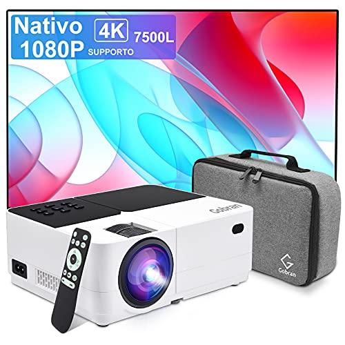 Proyector Nativo 1080P Full HD 7500 lúmenes,Soporte 4k Mini...