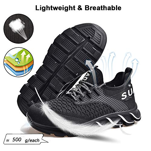 SITAILE Steel Toe Shoes Work Safety Shoes for Men and Women Breathable Industrial & Construction Sneakers Puncture Proof Safety Shoes