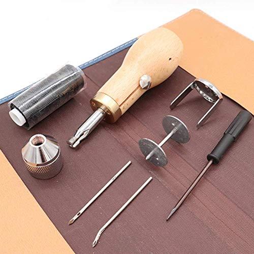 Gufo da cucire Stitcher, kit di strumenti da cucire con gufo con un piccolo cacciavite, kit di strumenti di riparazione della cucitrice a mano per vela in cuoio e riparazione pesante della tela