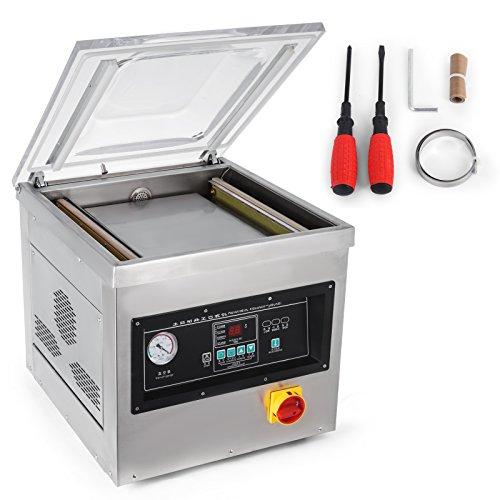 OldFe 1000W Macchina Confezionatrice Professionale DZ-400/2F Macchina Confezionatrice Professionale Machine Slear In Acciaio Inox (DZ-400/2F)