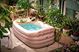 ThermaeStudio Mobile bathtub,Inflatable bathtub -SPA bathtub - Foldable,Portable,Freestanding | with Electric Air Pump | Designed in Rome (Lightcoffe)