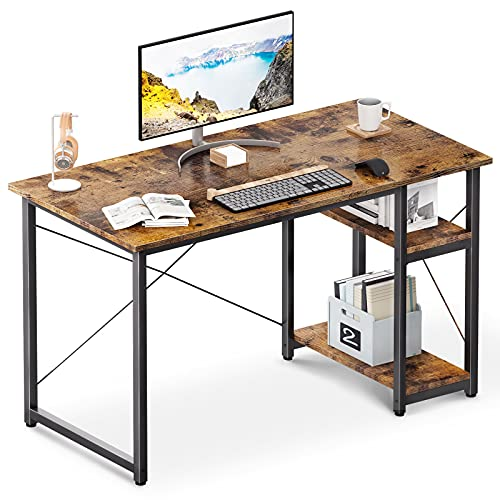 ODK Computer Desk with Shelves, 39' Home Office Desk with Storage, 2...