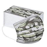 riou 50 Stück Kinder Mund und Nasenschutz Einweg Vliesstoff 3-Lagig Atmungsaktive Mundschutz Halstuch für Jungen und Mädchen