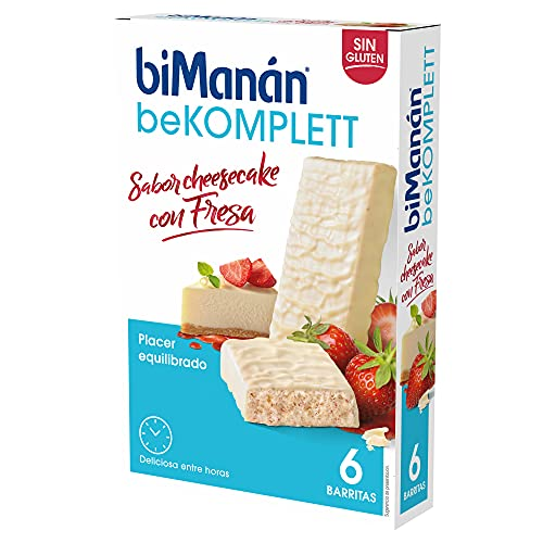 BiManán beKOMPLETT - Barritas Sabor Cheesecake con Fresa -