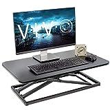 VIVO Economy Single Top Height Adjustable 29 inch Standing Desk Converter, Sit Stand Tabletop Monitor and Laptop Riser Platform Workstation (DESK-V000U)