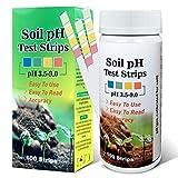 Saysummer Soil pH Tester, Soil Testing Kit, Soil Test Strips for Soil, Garden Soil and Home, Farm, Lawn, Outdoor and Indoor Plants (100 Strips)