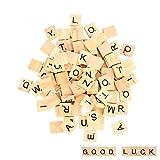 moinkerin 100 Pièces Lettres en Bois, Puzzle Alphabets A à Z, 100 en Bois...