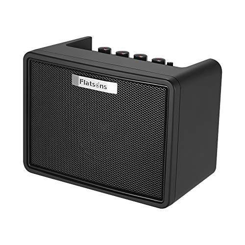 Portable Desktop Guitar Amplifier 3W Electric Guitar Mini Modeling Amp with 2 Channels Clean Distortion Built-in Delay Effect BT Connection