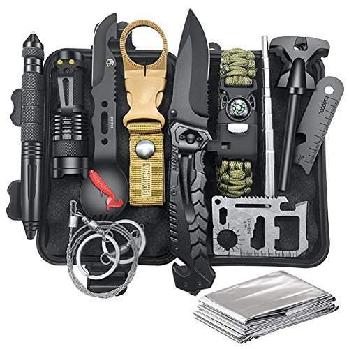 Gifts for Men Dad Husband Fathers Day, Survival Kit 12 in 1,...
