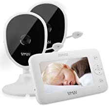 Baby Monitor, 4.3'' Video Baby Monitor with 2 Cameras, Night Vision,..