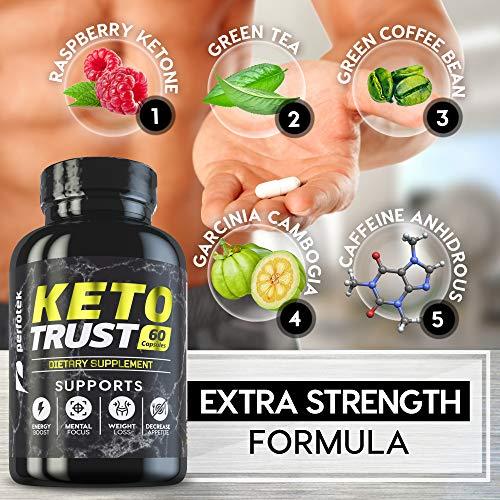 4 Pack Keto Diet Pills Weight Loss Supplement Fat Burner Advanced Extract Formula - Garcinia Cambogia - Raspberry Ketones, Green Coffee Bean, Green Tea All Natural, Ketogenic Diet for Women and Men 2