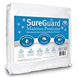 SureGuard Crib Size Mattress Protector - 100% Waterproof, Hypoallergenic - Premium Fitted Cotton Terry Cover - 10 Year Warranty