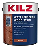 KILZ L832211 Exterior Waterproofing Wood Stain, Semi-Transparent, Redwood, 1-Gallon, 1 Gallon, 4 l