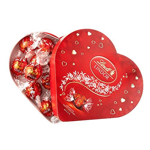 リンツ チョコレート(Lindt)バレンタイン リンドールハートギフトボックス ミルクショッピングバッグM付