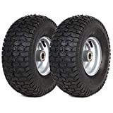 (2 Pack) 15' x 6.00-6' Tire and Wheel Set - The Exact Replacements Compatible with Husqvarna 532106732 and 5321122073 - Also for Lawn Tractors with 15' Wheels with 3/4' Bearings