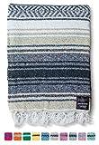 Mexican Blanket | Falsa Blanket | Authentic Hand Woven Blanket, Serape, Yoga Blanket | Perfect Beach Blanket, Navajo Blanket, Camping Blanket, Picnic Blanket, Saddle Blanket, Car Blanket (Sand)
