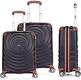3 juegos de polipropileno expandible maleta expandible con 4 forros de ruedas,Black