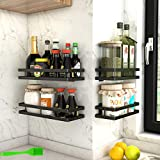 Especiero cocina con 4 ganchos,Especiero cocina pared,Almacenamiento de cocina y...