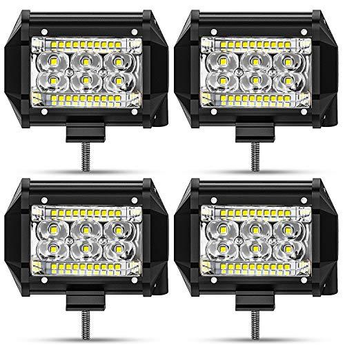San Young Led Pods 4Inch 78W LED Light Bar, 15000LM Spot Flood Combo Off Road Light, LED Work Light Driving Fog Light for Truck Pickup ATV UTV SUV Boat