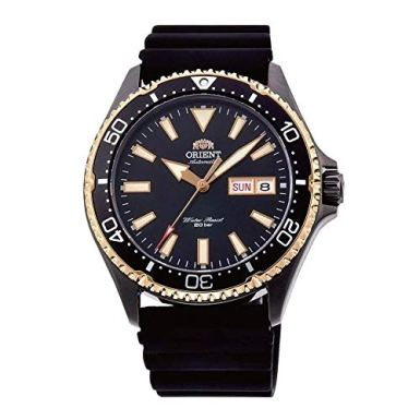 Orient Mens Analogue Automatic Watch with Rubber Strap RA-AA0005B19B