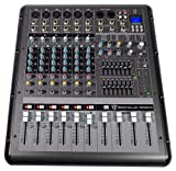 Rockville RPM870 8 Channel 6000w Amplifier Mixer w/USB, Effects, 8 XDR2 Mic Pres