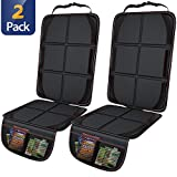 Gimars Thickest EPE Cushion Car Seat Protector Mat, XL Large Waterproof 600D Fabric Child Baby Seat Protector with Storage Pockets for SUV, Sedan, Truck, Leather and Fabric Car Seat, 2 Packs