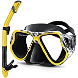 QcoQce 2019 Kit de plongée sec avec masque de plongée anti-buée et vue panoramique Masque de...